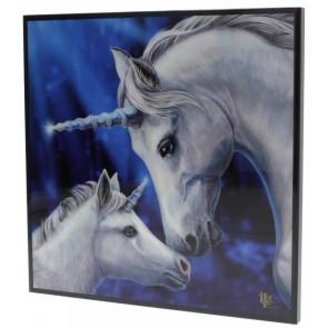 Sacred love - Déco murale - Licornes - Lisa Parker - 25x25cm