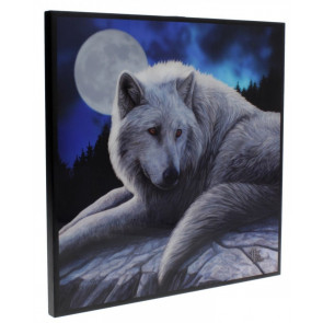 décoration mural motif loup blanc lisa parker guardian of north