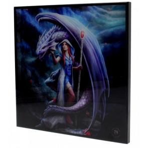 Dragon mage - Déco murale - Anne Stokes - 25x25cm