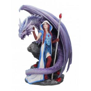 Dragon mage - Figurine dragon - Anne Stokes - Statuette 24cm