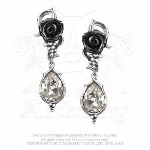 boutique bijoux gothique romantique boucle oreille bacchanal rose