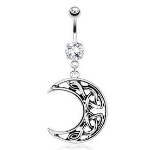 Piercing nombril - Bijou - Demi lune celtique