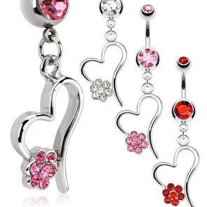 boutique en ligne vente piercings nombril forme coeur