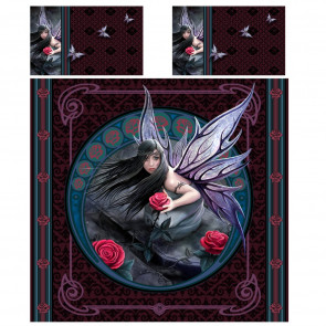 Rose fairy - Housse couette fée Anne Stokes - 230x220 + 2 taies - Lit 2 personnes