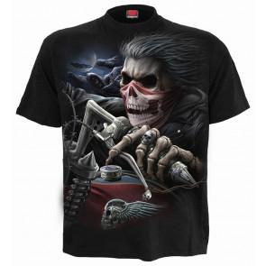 boutique en ligne vente tee shirt motard motif moto squelette rock dark