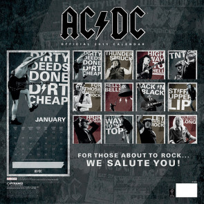 ACDC - Calendrier 2015 - Rock