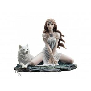 Maiden elfe - Figurine fantasy et loup