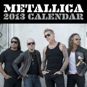 calendrier mettallica 2013 heavy metal hard rock
