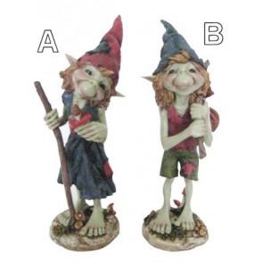 Grand Pixies elfes debout - Figurine - 33 cm