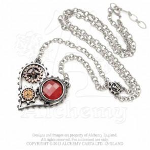 pendentif coeur steampunk alchemy gothic