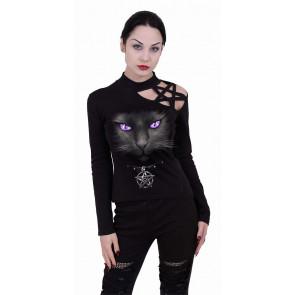 Black cat - T-shirt femme - Chat - Manches longues