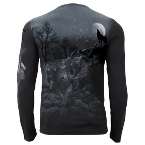 Shadow wolf - Tee-shirt homme - Loups meute - Manches longues