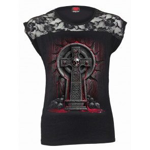 boutique vente vetement gothic tee shirt femme bleedings soul spiral france