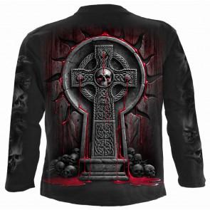 Bleedings soul - Tee-shirt crâne croix - Homme - Spiral