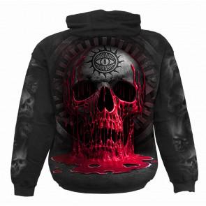 Bleeding souls - Sweat shirt homme - Crâne sang croix - Spiral