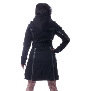 Manteau Rock Gothic femme - Dark silence coat - Chemical black