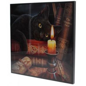 boutique déco chat lisa parker witching hour crystal clear picture petit format 25x25cm