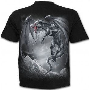 Dragons's cry - T-shirt dragon - Spiral - Manches courtes