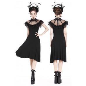 Robe gothique longue victorien - Tulle dentelle roses - Dark in love