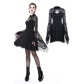 Robe courte gothique - Manches longues évasées - Dark in love