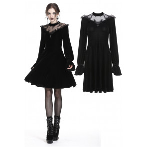 Robe gothique en velours et dentelle - Dark in love