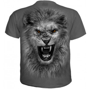 Tribal lion - T-shirt homme - Gris