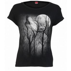 Boutique vente tshirt femme motif loup forest wolf spiral