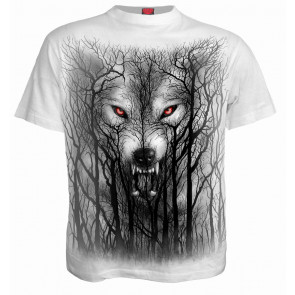 Forest wolf - T-shirt homme - Loup - Blanc