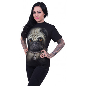 Pug life - T-shirt homme chien piercing