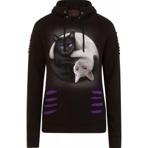 Yin Yang Cats - Sweat shirt chats - Spiral