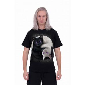 Yin yang cats - T-shirt chats - Homme - Spiral