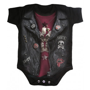 Baby biker - Body bébé - Motoard rock - Spiral