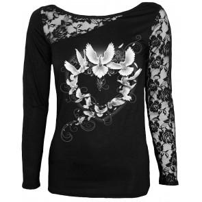 Doves heart - T-shirt femme - Oiseau tourterelles