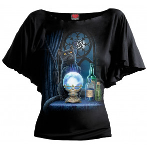 Boutique vente tee shirt femme motif chat lisa parker magie The witches apprentice