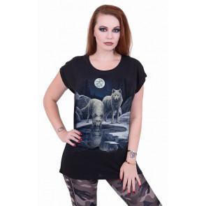 Warriors of winter - T-shirt femme loups - Lisa Parker