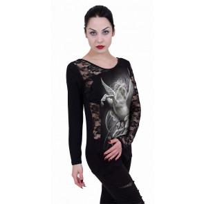 Purity - T-shirt femme pégase licorne - Manches longues