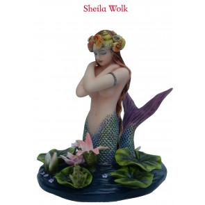 boutique décoration objet statuette motif sirène par sheila wolk