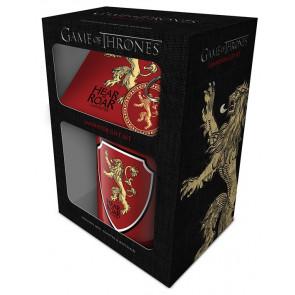 Boutique GOT game of thrones licence hbo trone de fer coffret cadeau mug accessoires famille LANNISTER
