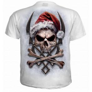 Rock Santa - T-shirt homme squelette - Père Noël
