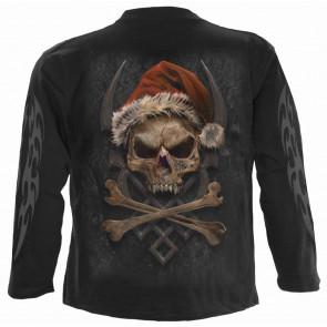 Rock santa - Noel - T-shirt squelette - Homme - Spiral