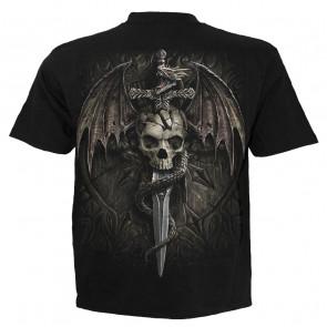 Draco skull - T-shirt dragon - Spiral - Manches courtes