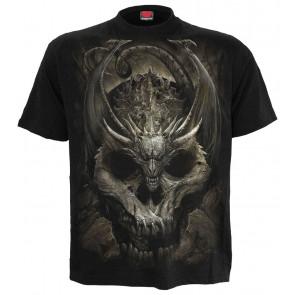 Vetement motif dragon dark gothique draco skull tshirt manches courtes