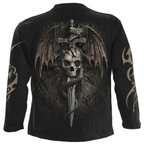Draco skull - T-shirt homme dragon - Manches longues