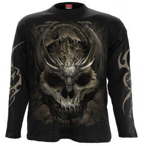 Magasin vente vetement motif dragon et crane dark fantasy gothic manches longues spiral