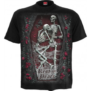 Rest in peace - T-shirt gothique squelettes - Homme - Spiral
