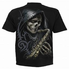 Reaper blues - T-shirt gothique La Faucheuse squelette - Homme - Spiral