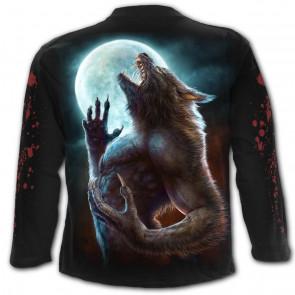 Wild moon - T-shirt loup garou - Homme - Manches longues