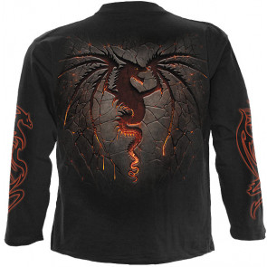 Dragon furnace - T-shirt dragon - Manches longues