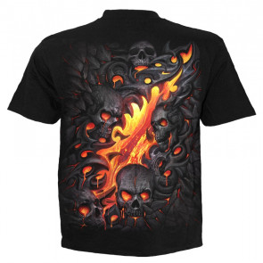 Skull lava - T-shirt homme - Crâne - Spiral