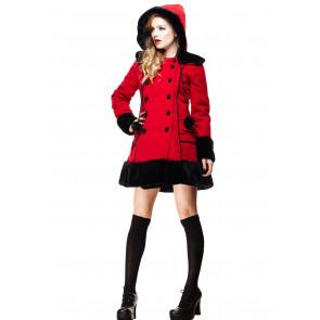 Manteau Sarah Jane rouge - Femme - Hell Bunny